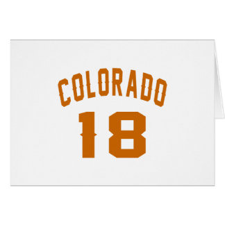 Colorado 18 Birthday Designs Card