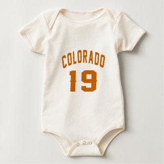 Colorado 19 Birthday Designs Baby Bodysuit