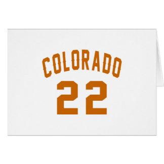 Colorado 22 Birthday Designs Card