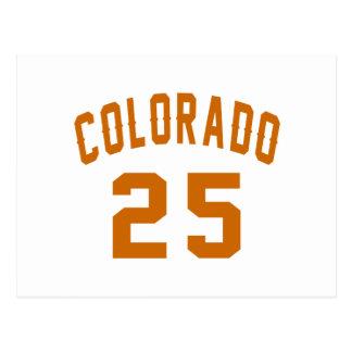 Colorado 25 Birthday Designs Postcard