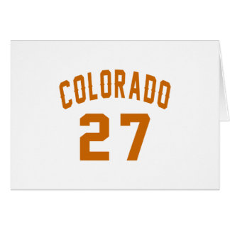 Colorado 27 Birthday Designs Card