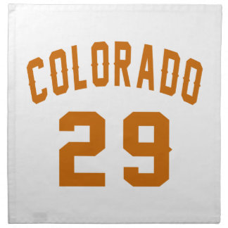 Colorado 29 Birthday Designs Napkin