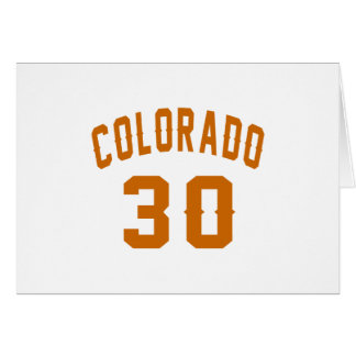 Colorado 30 Birthday Designs Card