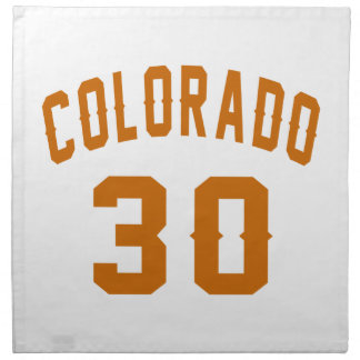 Colorado 30 Birthday Designs Napkin