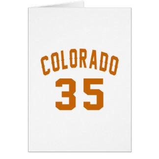 Colorado 35 Birthday Designs Card