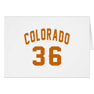 Colorado 36 Birthday Designs Card
