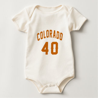 Colorado 40 Birthday Designs Baby Bodysuit