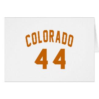 Colorado 44 Birthday Designs Card