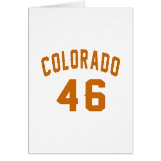 Colorado 46 Birthday Designs Card