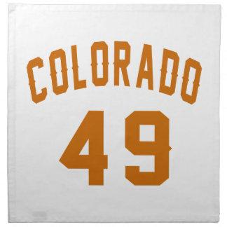 Colorado 49 Birthday Designs Napkin