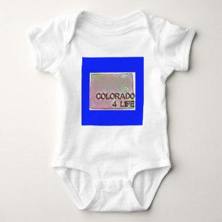 """Colorado 4 Life"" State Map Pride Design Baby Bodysuit"