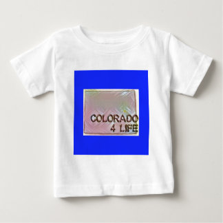 """Colorado 4 Life"" State Map Pride Design Baby T-Shirt"