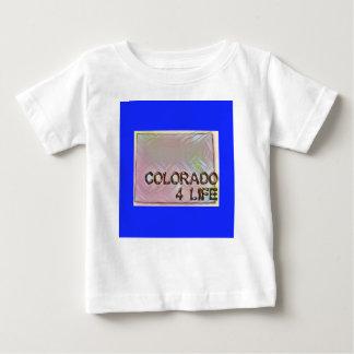 """Colorado 4 Life"" State Map Pride Design Baby T-Shirt"