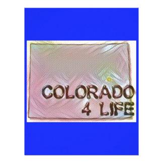 """Colorado 4 Life"" State Map Pride Design Custom Letterhead"
