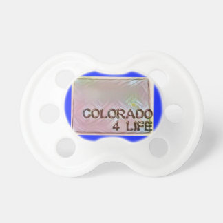"""Colorado 4 Life"" State Map Pride Design Pacifier"