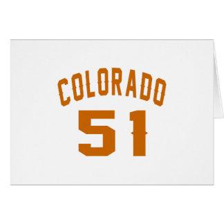 Colorado 51 Birthday Designs Card