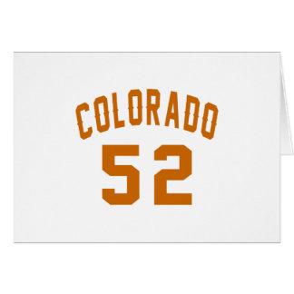 Colorado 52 Birthday Designs Card