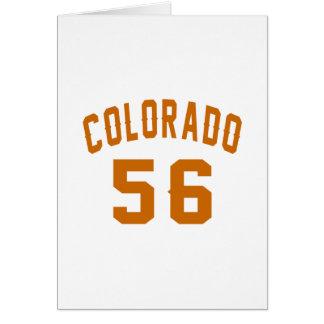 Colorado 56 Birthday Designs Card