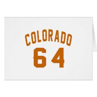 Colorado 64 Birthday Designs Card