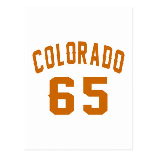 Colorado 65 Birthday Designs Postcard