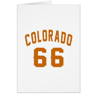 Colorado 66 Birthday Designs Card