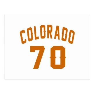 Colorado 70 Birthday Designs Postcard