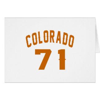 Colorado 71 Birthday Designs Card