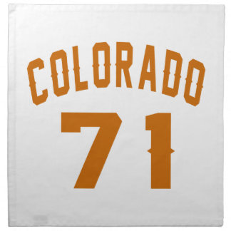 Colorado 71 Birthday Designs Napkin