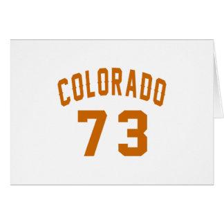 Colorado 73 Birthday Designs Card