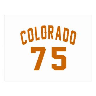 Colorado 75 Birthday Designs Postcard