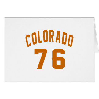 Colorado 76 Birthday Designs Card