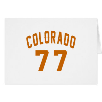 Colorado 77 Birthday Designs Card