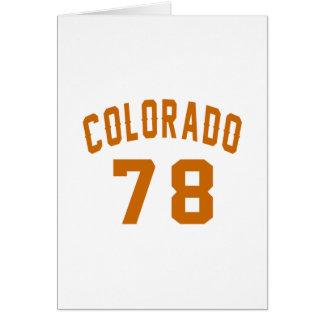 Colorado 78 Birthday Designs Card