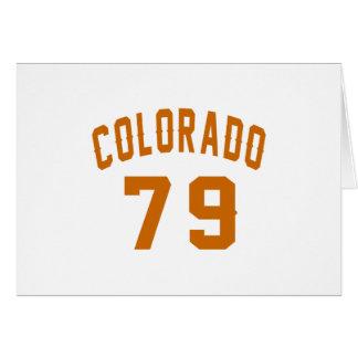 Colorado 79 Birthday Designs Card