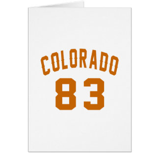 Colorado 83 Birthday Designs Card