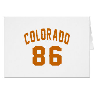 Colorado 86 Birthday Designs Card
