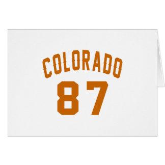 Colorado 87 Birthday Designs Card