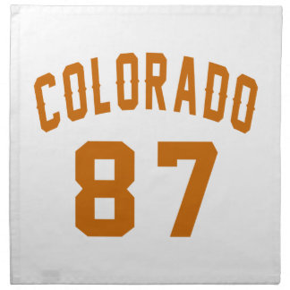 Colorado 87 Birthday Designs Napkin