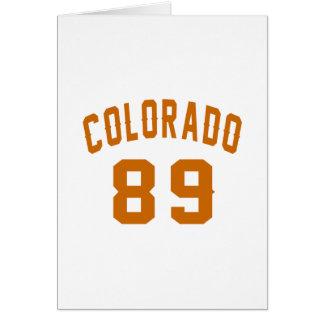 Colorado 89 Birthday Designs Card