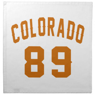 Colorado 89 Birthday Designs Napkin