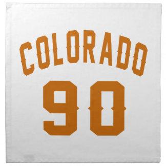 Colorado 90 Birthday Designs Napkin