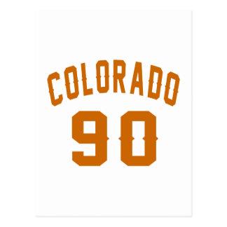 Colorado 90 Birthday Designs Postcard