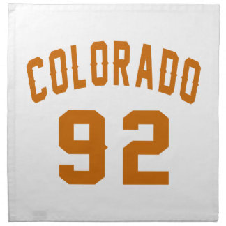 Colorado 92 Birthday Designs Napkin