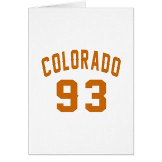 Colorado 93 Birthday Designs Card