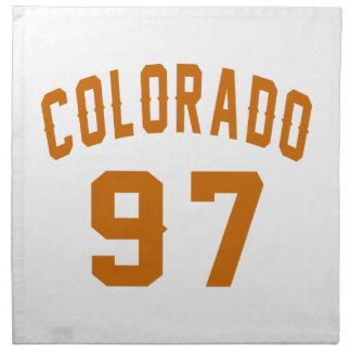 Colorado 97 Birthday Designs Napkin