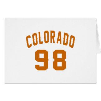 Colorado 98 Birthday Designs Card