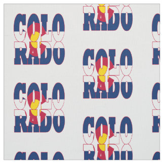 Colorado American state flag Fabric