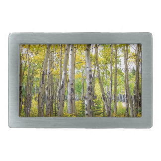 Colorado Backcountry Forest Rectangular Belt Buckle