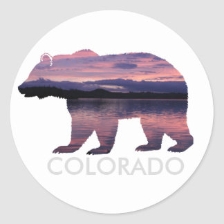 Colorado Bear | Sunset | Circle Sticker