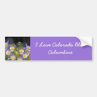 Colorado Blue Columbine Painting - Original Art Bumper Sticker
